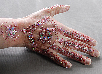 The Henna Page White Henna Gilding Glitter And Gems The