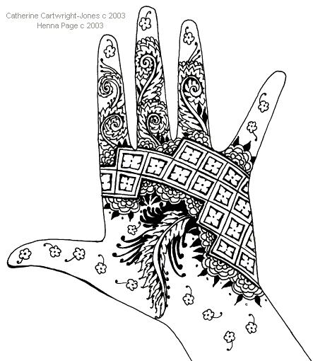 Mehndi Patterns Explained : Henna page free patterns