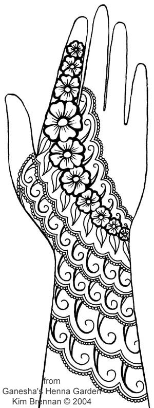 Mehndi Patterns Explained : Henna page free patterns ganesha s garden by